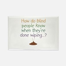 Blind Wipe Rectangle Magnet