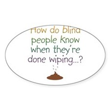 Blind Wipe Oval Decal