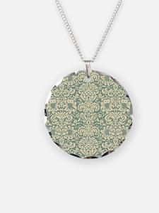 Vintage Damask Green Necklace