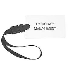 Emergency Management - Black Luggage Tag