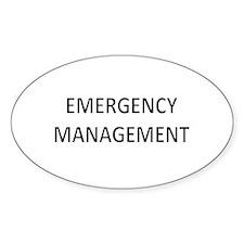 Emergency Management - Black Decal