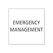 "Emergency Management - Black Square Sticker 3"" x 3"
