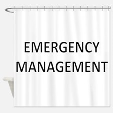 Emergency Management - Black Shower Curtain