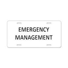 Emergency Management - Black Aluminum License Plat
