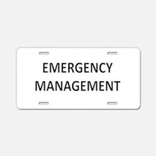 Emergency Management - Black Aluminum License Plat