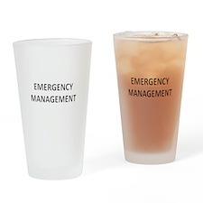 Emergency Management - Black Drinking Glass