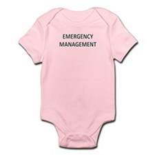 Emergency Management - Black Infant Bodysuit