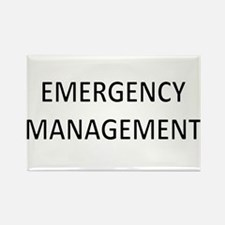 Emergency Management - Black Rectangle Magnet