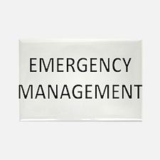 Emergency Management - Black Rectangle Magnet