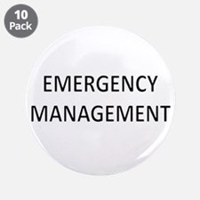 "Emergency Management - Black 3.5"" Button (10 pack)"