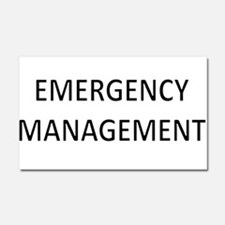 Emergency Management - Black Car Magnet 20 x 12