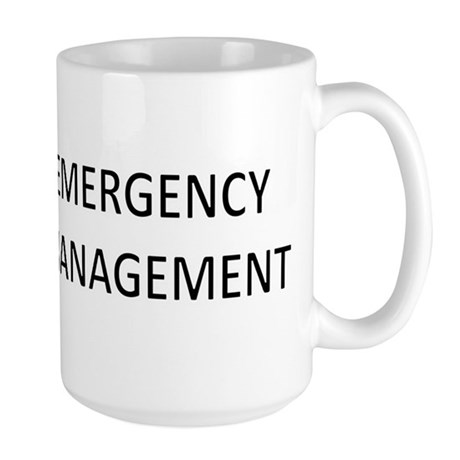 Emergency Management - Black Large Mug