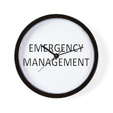 Emergency Management - Black Wall Clock