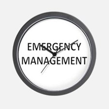 Emergency Management - Black Wall Clock