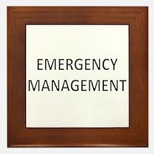 Emergency Management - Black Framed Tile