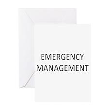 Emergency Management - Black Greeting Card