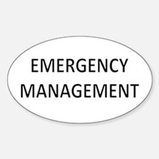 Emergency Management - Black Decal