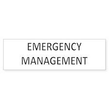 Emergency Management - Black Bumper Sticker