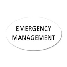 Emergency Management - Black 20x12 Oval Wall Decal