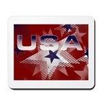 Red, White and Blue USA Mousepad