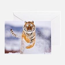 Snow Tiger Greeting Card
