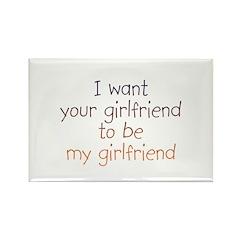 Girlfriend Rectangle Magnet