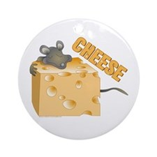 Mouse 'n Cheese Ornament (Round)