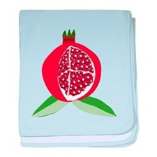 Pomegranate baby blanket