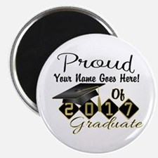 Proud 2017 Graduate Black Magnets