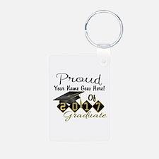 Proud 2017 Graduate Black Keychains