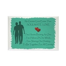 ...Soulmate Love... Oblong Magnet