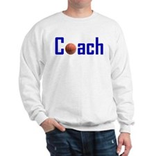 Basketball Coach Blue Sweatshirt