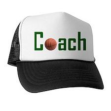 Basketball Coach Green Trucker Hat