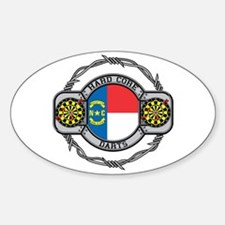 North Carolina Darts Oval Decal