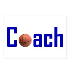 Basketball Coach Blue Postcards (Package of 8)