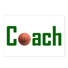 Basketball Coach Green Postcards (Package of 8)