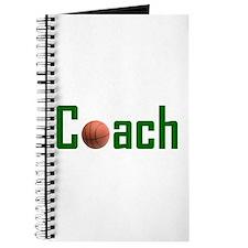 Basketball Coach Green Journal