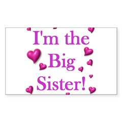 Original - Big sister logo Rectangle Decal