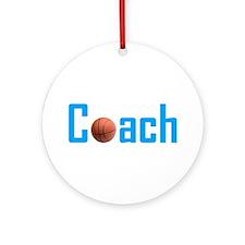 Basketball Coach Light Blue Ornament (Round)