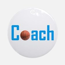 Basketball Coach Light Blue Ornament (Round)