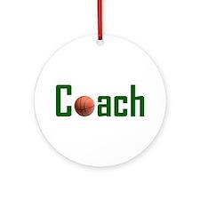 Basketball Coach Green Ornament (Round)