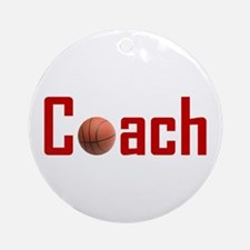 Basketball Coach Dark Red Ornament (Round)