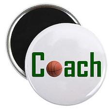 """Basketball Coach Green 2.25"""" Magnet (100 pack)"""
