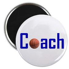 "Basketball Coach Blue 2.25"" Magnet (100 pack)"