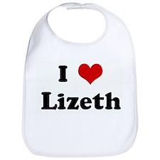 I Love Lizeth Bib