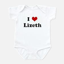 I Love Lizeth Infant Bodysuit