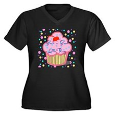 SUCH A SWEET Women's Plus Size Dark V-Neck T-Shirt