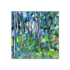 "Cezanne: In the Woods Square Sticker 3"" x 3"""