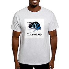I am the Alpha (white) Ash Grey T-Shirt
