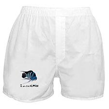 I am the Alpha (white) Boxer Shorts